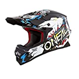 O'Neal 3Series Villain Motocross Enduro Helm Trail Quad Cross Offroad FMX Freestyle ABS, 0623-VAdult, Farbe Weiß, Größe M