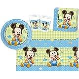 Procos 10108563B - Set para fiesta infantil - Disney Baby Mickey, tamaño S, 37 piezas