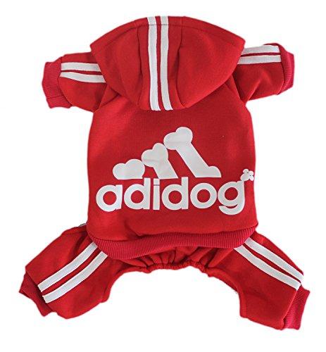 Housse Adidog quatre jambes Pet Tenues pour chien chat capuche Pull pour chien Vêtements Manteau chaud chiot sport Apparel T-shirt pour homme