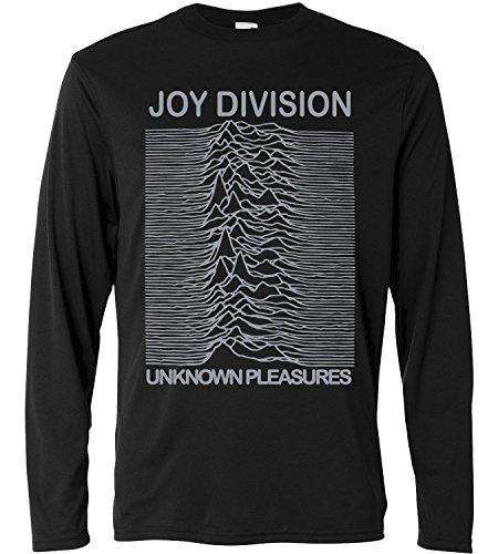 LaMAGLIERIA Camiseta de Manga Larga Hombre - Joy Division- Grey...