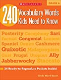 240 Vocabulary Words Kids Need to Know, Grade 6: 24 Ready-To-Reproduce Packets That Make Vocabulary Building Fun & Effec