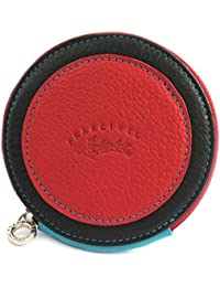 Francinel [L9472] - Porte-monnaie rond 'Troubadour' rouge multicolore