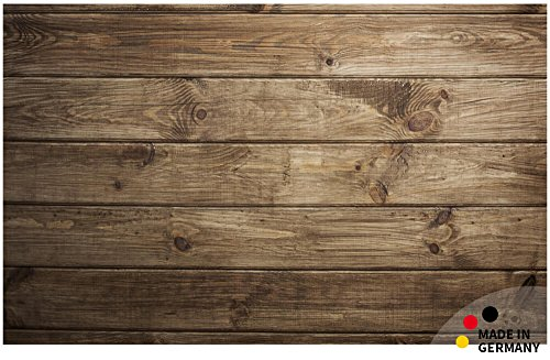 matches21 Fußmatte Fußabstreifer Flat Motiv Holz dunkel Holzoptik braun 50x80 cm Flache Textil Oberfläche maschinenwaschbar Flur Teppich