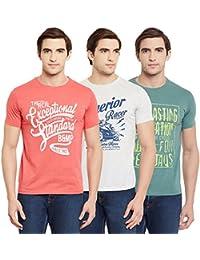 Duke Men's Regular Fit T-Shirt (Pack of 3)