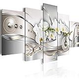 murando - Bilder 100x50 cm Vlies Leinwandbild 5 TLG Kunstdruck modern Wandbilder XXL Wanddekoration Design Wand Bild - Blumen Orchidee Abstrakt b-A-0073-b-n