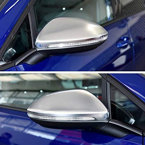 WYYYFA Für Volkswagen vw Golf 6 mk6 touran matt Chrom Spiegel Abdeckung Silber rückspiegel kappengehäuse