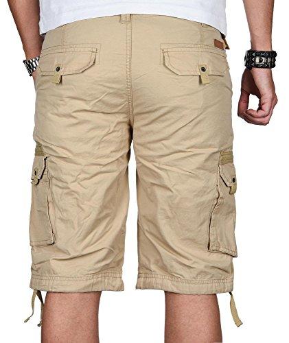 Stylische Herren Cargo Short Sommer Bermuda kurze Hose Army Shorts B493 Beige