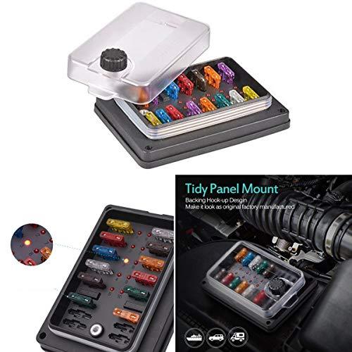 Kit protection étanche 10 voies 250 Amp ATC ATO fusible à lame Box avec LED Indicatior