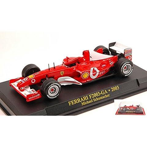FERRARI F2003 GA M.SCHUMACHER N.1 BLISTER (SENZA CUPOLA) 1:43 Editoria Formula 1 modello modellino die cast