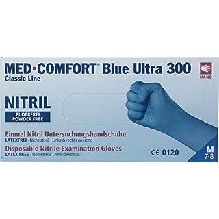 Med - Comfort 10 x 100 Blue Ultra 300 Nitril Handschuhe (30 cm - Extra Lang und Stark) puderfrei (M)