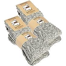 Juego de 2pares de calcetines noruegos (calcetines de lana), tejidos, unisex