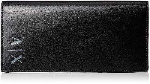 Giorgio Armani Leder (Armani Exchange Herren Leather Wallet Geldbörse Schwarz (Black) 10x1.7x19.5 cm)