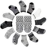 12er-pack Baby ABS Socken, Anti Rutsch Socken für 12-36 Monate Baby Mädchen und jungen, Cartoon-Stil, von Future Founder