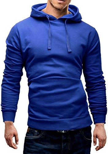 Merish-Felpa-con-Cappuccio-Uomo-Maglione-con-cappucciocon-Tasca-a-marsupioTaglio-classico-SlimFit-Sweatshirt-210-Blu-Azur-S