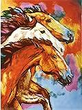 Born Free ~ Einzigartige und schöne Handbemalt Keramik Fliesen Wandschild 27,9x 35,6cm Einzigartige Geschenkidee