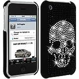 Mocca Design Strass Coque pour iPhone 3G Motif Tête de Mort