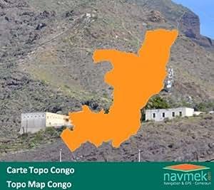 Navmek - Carte Topo Congo pour Garmin - MicroSD/SD