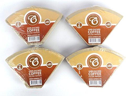 EDESIA ESPRESS - Kaffee-Filtertüten - ungebleicht - Größe 6 - 320 Stück