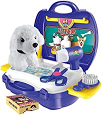 Toyshine DIY Pet Shop Portable Toy with Briefcase, Accessories