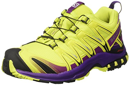 Salomon Xa Pro 3d Gtx W, Zapatillas de Running para Asfalto para Mujer, Amarillo (Lime Punch./Grape Juice/Acai), 36 EU