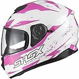 Shox Assault Trigger Motorrad Roller Helm S Weiß/Rosa