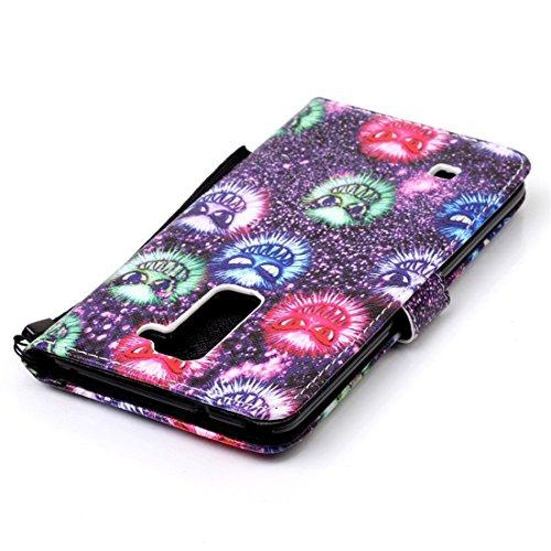 Chreey Coque Apple Iphone 7 (4.7 pouces),PU Cuir Portefeuille Etui Housse Case Cover ,carte de crédit Fentes pour ,idéal pour protéger votre téléphone grimace Halloween