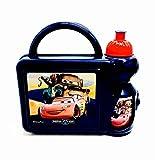 Disney Cars 3 Blue Plastic Lunch Box & Drinks Bottle Set Kids Back To School