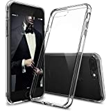 Egotude Hard PC Soft Silicone 5.5-inch Bumper Back Cover for Apple iPhone 7 Plus/ 8 Plus(Transparent)