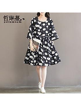 Verano estilo coreano trajes florales faldas,XL,el color de la imagen