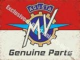 RKO Agusta MV Originalteile Motorrad Garage Vintage Metall/Stahl Wandschild - 30 x 40 cm