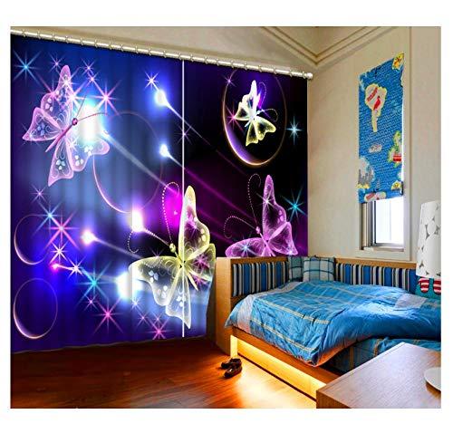 WKJHDFGB Dekoration 3D Vorhänge Traum Bogen Nacht Vorhang Wohnzimmer Schöne Kinderzimmer Vorhänge 245X280cm -