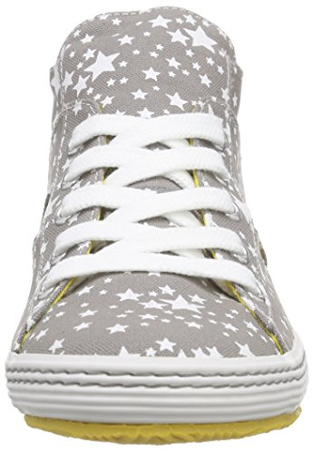 s.Oliver 53208, Baskets Basses fille Blanc - Weiß (GREY/WHITE 211)