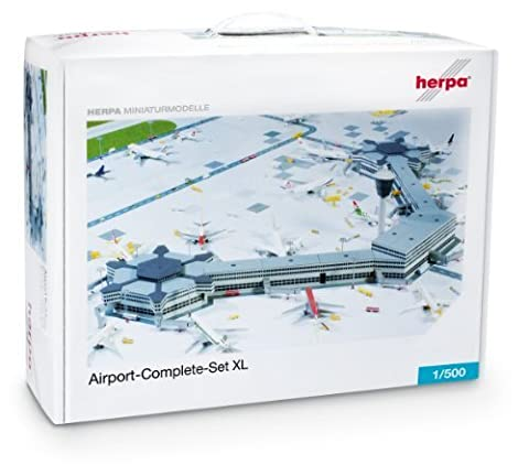 Herpa Airport Complete Set Xl 1/500 by Herpa 500 Scale