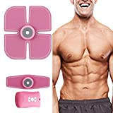 [New Version 2017] Abdominal Muscle Toner Abs Training Gear Body Fit Toning Belt Wireless Muscle Exercise For Abdomen/Arm/Leg Training Havenfly Smart muscle Trainer Portable Home/Office Workout Equipment Support Women (M1)