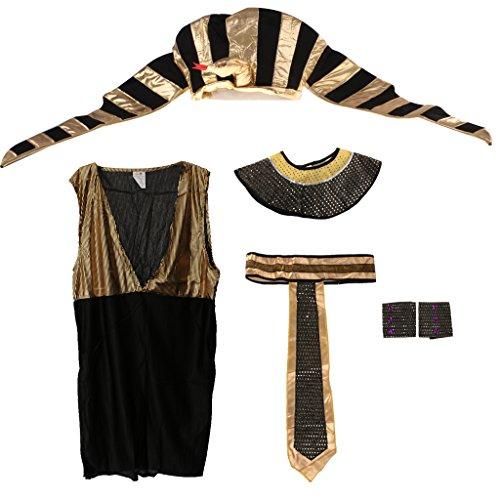 MagiDeal Pharaokostüm Pharaoh Pharao Ägypten König Cosplay Kostüm Halloween für Männer