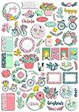 Toga - 60 formas y palabras, cortadas Dies-Cuts Oh La La, papel, Multicolor, no aplicable