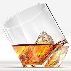 Idea Regalo - Rocker occhiali whiskey Scotch GLASSES inclinato cognac Snifter occhiali da Kteam–Set di 2. partito bicchiere occhiali