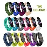 Mardozon 16 Pezzi Cinturino per Xiaomi Mi Smart Band 4 / Mi Band 3 - Orologio da Polso di Ricambio in Silicone Bracciale per Cinturini Colorati per Mi Band 4