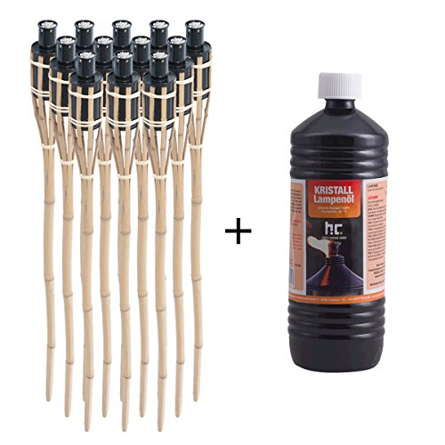 dxp-12-x-natural-handmade-bamboo-garden-tiki-torches-with-1l-lamp-and-torch-oil-oil-burning-3ft-90cm