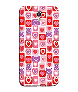 PrintVisa Designer Back Case Cover for Lenovo ZUK Z1 (Heart Plain Redish Love Feelings)