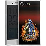 Sony Xperia X Compact Slim Case Silikon Hülle Schutzhülle Feuerwehrmann Feuerwehr Firefighter