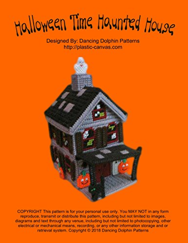 Halloween Time Haunted House: Plastic Canvas Pattern (English Edition) Halloween Green Lantern