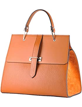 BORDERLINE - 100% Made in Italy - Borsa rigida da Donna in Vera Pelle - ANNA