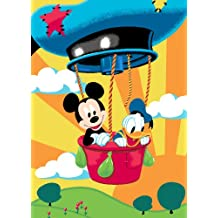 Associated Weavers M17 Mickey Mouse Disney - Alfombra diseño Mickey en globo (95 x 133 cm) [Importado de Alemania]
