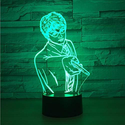 Wmbz Kreative Usb 7 Farben Ändern 3D Vision Männlichen Lehrer Modellierung Schreibtischlampe Led Klassenzimmer Atmosphäre Dekor Baby Schlaf Nachtlicht