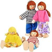 Hrph Madera miniatura muebles del Dollhouse Juguetes Set Dormitorio Cocina Cena Habitación Baño Sala