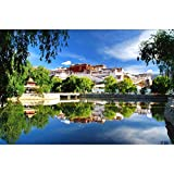 Image for board game Puzzle House Potala Palace Of Tibet, Fine Cut & Tight Fit Wooden Jigsaw Puzzle For Adults & Kids, Boxed 500/1000/1500 Pieces Puzzles Game Toys Painting Art 504 (Size : 500pc)
