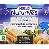 Nestlé Naturnes - Cena Verduritas Selectas Con Merluza A Partir De 8 Meses 400 gr - Pack de 3 (Total 1200 grams)