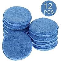 YeeStone Mikrofaser Wachs Applikator 10Pcs Auto Reinigung Polieren Wachsen Schaum Schwamm Polieren Schwämme, Blau
