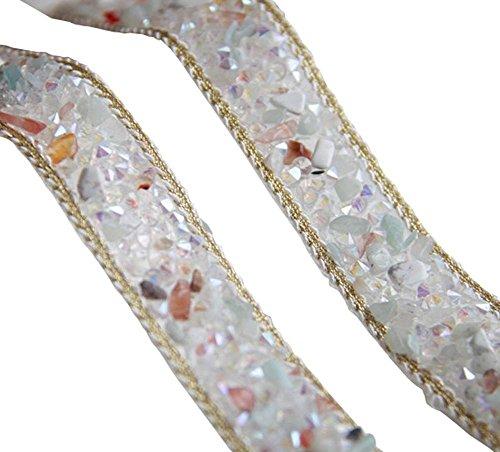 Panda Legends 1 Yard Crystal Strass Perlen Trim Ribbon Nähen Applique Kette für DIY Hochzeitskleid Schuhe Tasche Kostüme (Nähen Sie Ein Panda Kostüm)